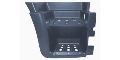 IVECO STRALIS LOWER FOOTSTEP RIGHT WITH HOLE BLACK