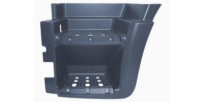 IVECO STRALIS LOWER FOOTSTEP LEFT WITH HOLE BLACK