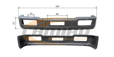 NISSAN ATLEON FRONT BUMPER - NARROW CABIN
