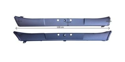VOLVO FH4 13- FRONT BUMPER CENTER grey