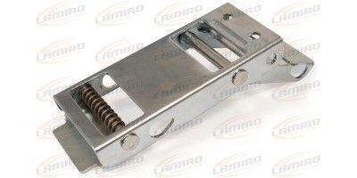 Tilt-resistant belt tensioner w.brake