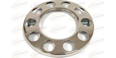Wheel cover, 10 holes, stainless steel 22,5 inch
